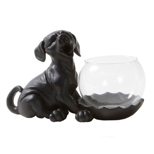 Tea light holder Dog