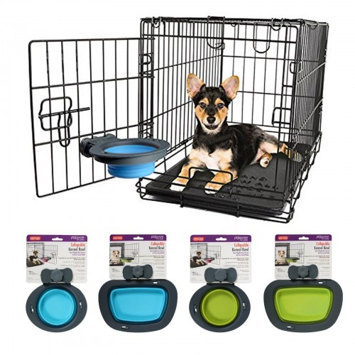 Collapsable kennel bowl
