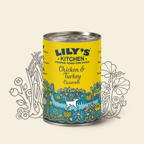 Lily's Kitchen Chicken and Turkey Casserole for Dogs