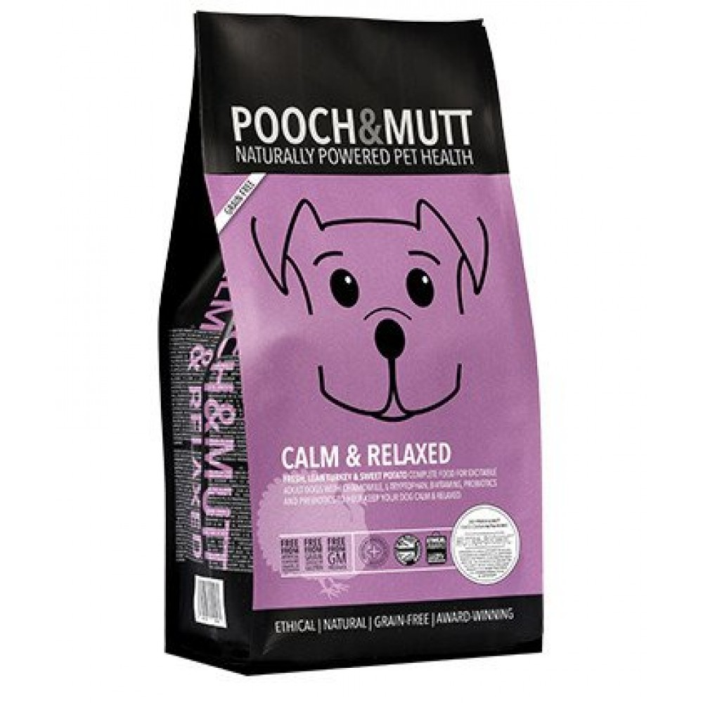 Pooch Mutt dog food Calm & Relaxed