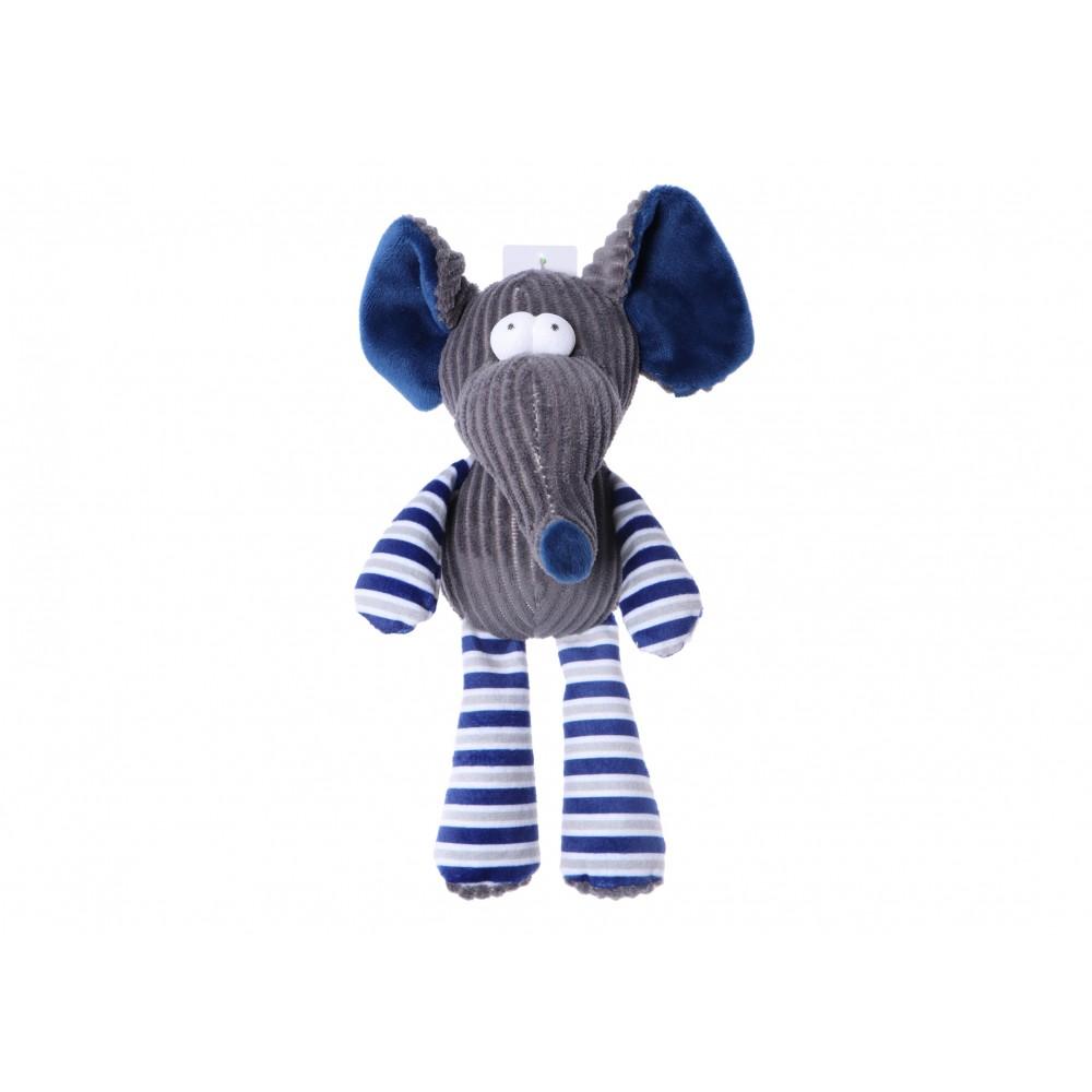 Plush Toy with Squeaker Elephant 25 cm