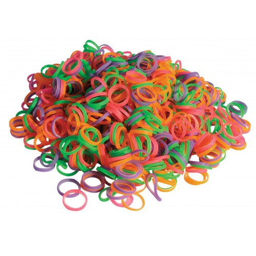 Top knot LIGHT bands neon 1000 pcs