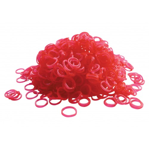 Top knot bands pink 1000 pcs