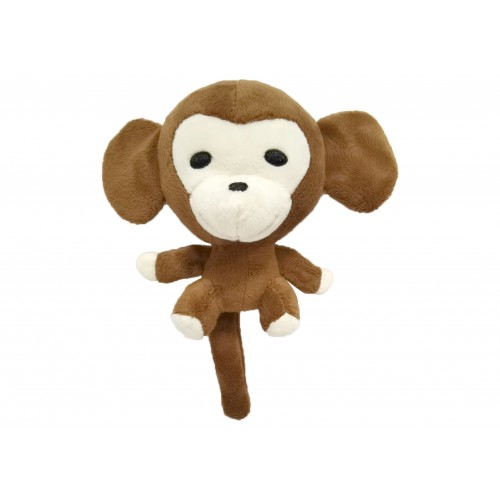 Plush toy monkey with squeaker 20 cm