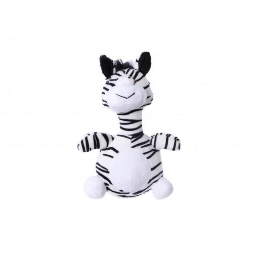 Plush toy zebra with squeaker 20 cm