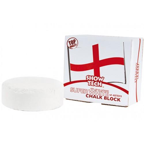 English chalk super white round block
