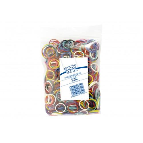 Wrap bands mixed colours 1000 pcs